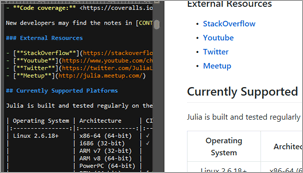 screenshot of HTML and Markdown live preview in UltraEdit