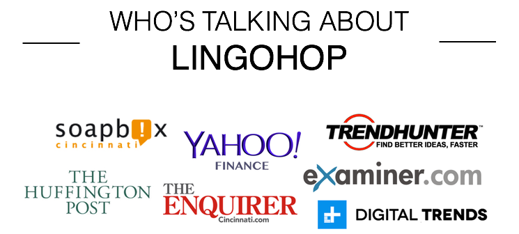 Who's talking about LingoHop