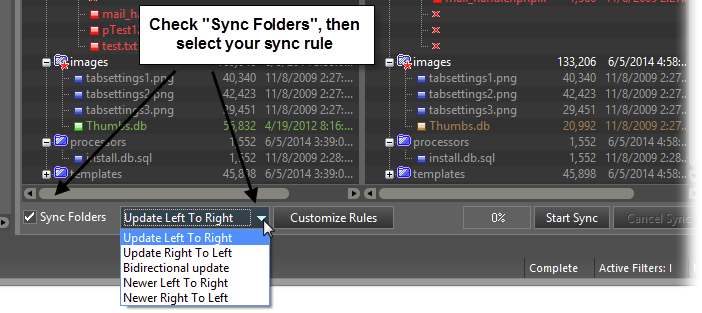 Folder Sync screenshot
