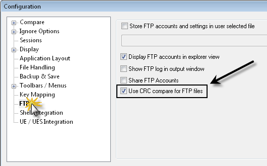 FTP Folder Compare with CRC