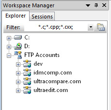 FTP in Workspace Manager