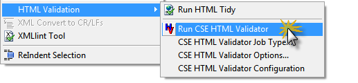 CSE HTML Validator integration with UltraEdit/UEStudio