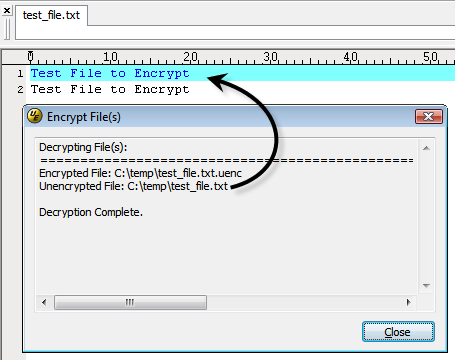 Encrypt and Decrypt Text Files in UltraEdit