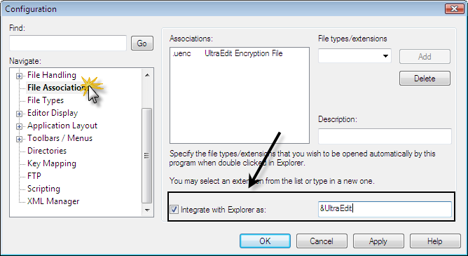 File Associations Explorer Integration