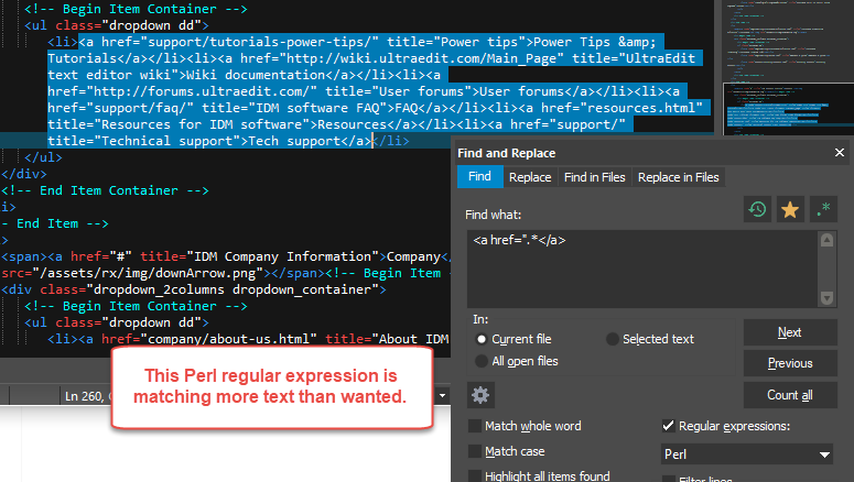 Non-Greedy Perl Regular Expressions