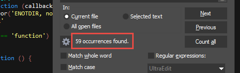 Find and replace in text files with UltraEdit