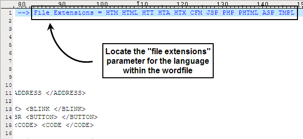 File Extension Example Type in The File Extension