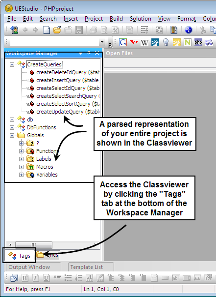 Using the Classviewer in UEStudio
