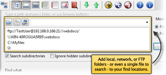 Search for files in WIndows by name with UltraFinder